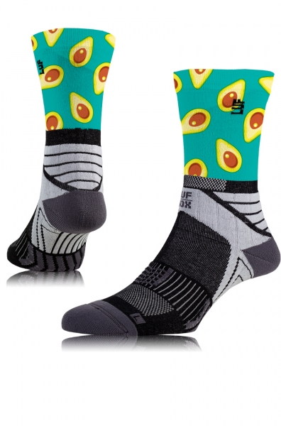 LUF|SOX Performance Crew Speed Avocado